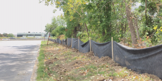 New barrier keeps snakes away from site of future REM station in Pointe-Claire
