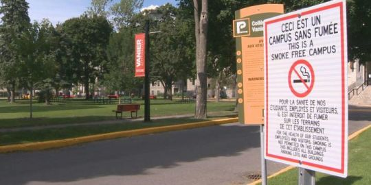 Vanier College is now a smoke-free campus