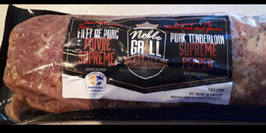 Pork recalled for containing ingredient omitted from label