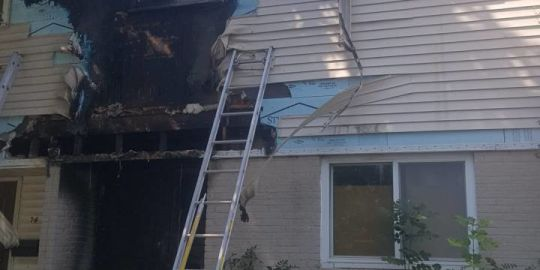 Fire marshal investigating two suspicious fires at same west London townhouse complex Tuesday morning
