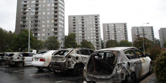 'Pure evil': Masked teens burn at least 80 cars in Sweden