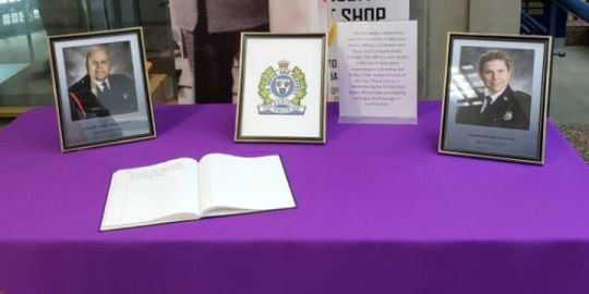 Books of condolences for families of Fredericton officers killed at Toronto police headquarters