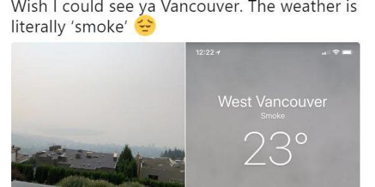 'The weather is literally smoke': air quality worsens in Metro Vancouver, Fraser Valley