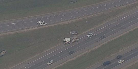 Single-vehicle rollover causes rush-hour traffic disruptions east of Edmonton