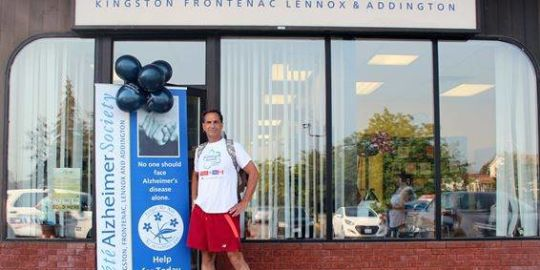 Man running from Hamilton to Montreal for Alzheimer's research