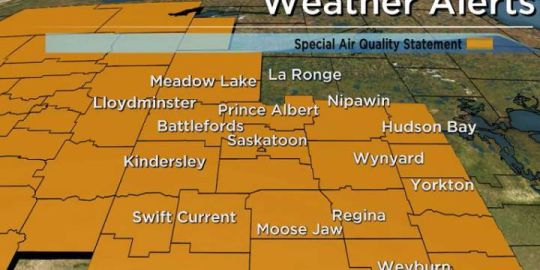 Wildfire smoke prompts special air quality statement for Saskatchewan