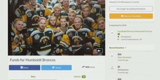 Interim GoFundMe payments in Humboldt Broncos crash approved by judge