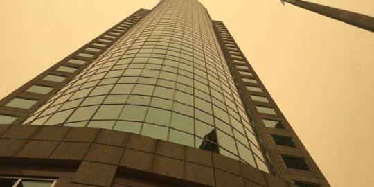 Hazy conditions reducing air quality in Winnipeg