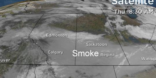 Saskatoon weather outlook: thick smoke sticks around for a while