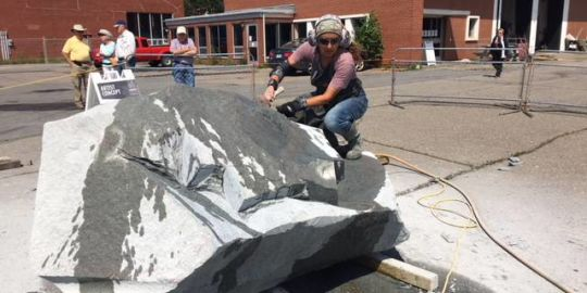 Turning granite into public art at Sculpture Saint John
