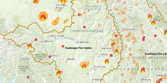 BC Wildfire Service puts Kamloops Fire Centre blazes on top of priority list