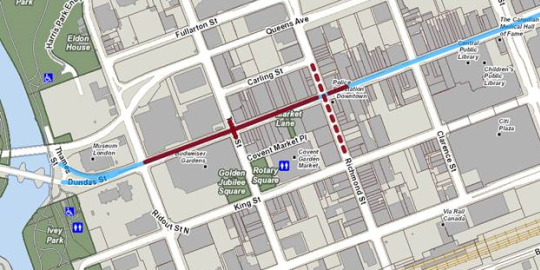 Dundas and Richmond to be closed for 24 hours this weekend: City of London