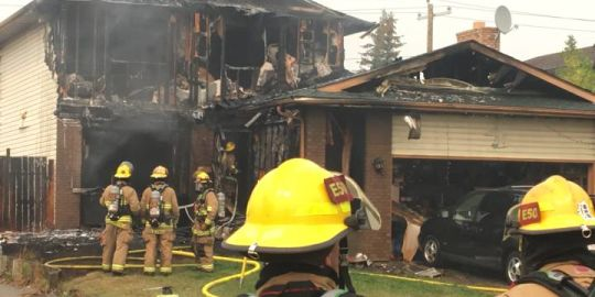 Home destroyed in northeast Calgary fire