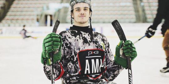 Ryan Straschnitzki to play 1st-ever sledge hockey game at Cowboys 'n Sleds event