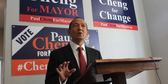 Paul Cheng vows to stop BRT and cut red tape during mayoral platform announcement