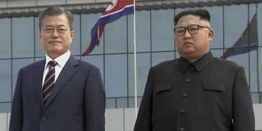 South Korean president lands in North Korea for third summit of 2018