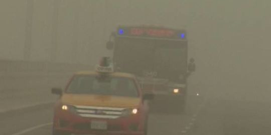 Fog expected to cause near-zero visibility in London for Tuesday morning commute