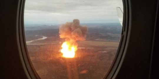 No timeline for repair of exploded gas pipeline near Prince George: Enbridge