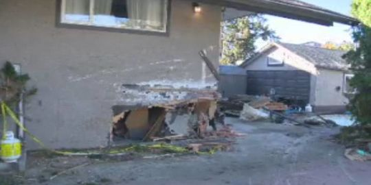 Vehicle crashes into Kelowna home, causes extensive damage