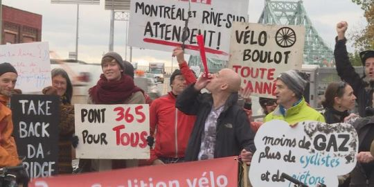 Cyclists angry over wintertime closure of Jacques Cartier Bridge path