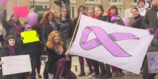 Montreal march seeks to raise awareness about domestic violence