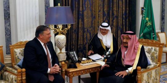 Pompeo sits down with Saudi king over disappearance of journalist Jamal Khashoggi