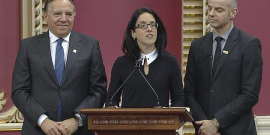 Coalition Avenir Québec MNAs sworn in at the National Assembly