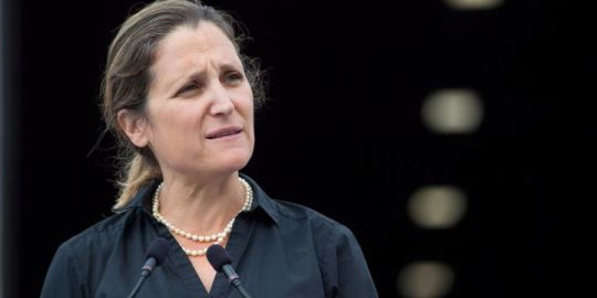 Chrystia Freeland laid down on floor of Trudeau's office — exhausted — after sealing USMCA