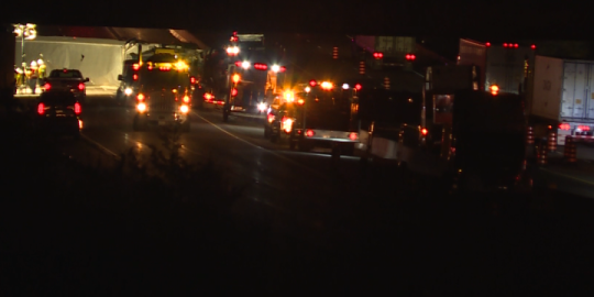Fatal transport collision closes Hwy 401 eastbound overnight at Napanee
