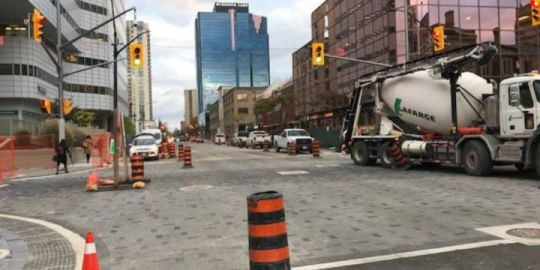One intersection opens, another closes amid Dundas Place construction