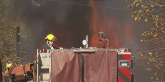 Langley crews douse large equipment shed fire near Golden Ears Bridge
