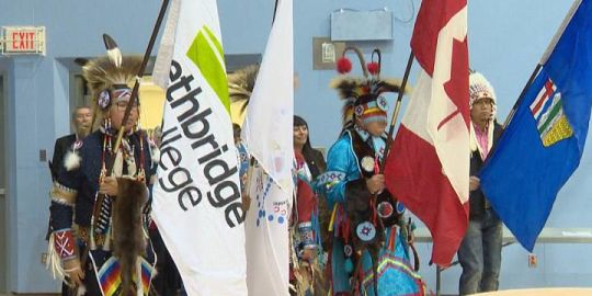 Lethbridge College president and CEO receives Blackfoot name during Indigenous Celebration Day