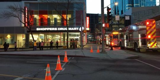 Fire crews called to Edmonton City Centre, part of downtown mall closed