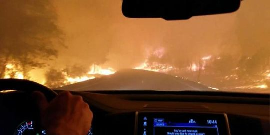 Terrifying video shows family's desperate drive through hellish California wildfires