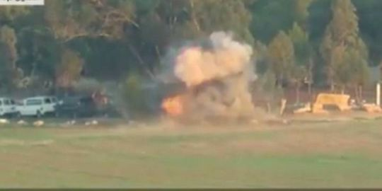 Hamas releases video of missile attack on Israeli bus