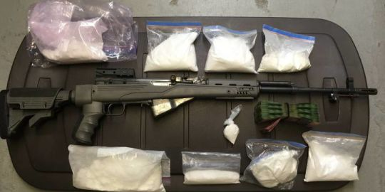 Thompson RCMP make large seizure of cocaine, guns, cash