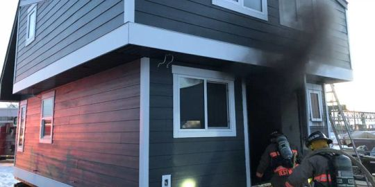 Fire damages RTM cabin under construction in Saskatoon