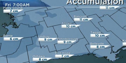 Winter weather travel advisory for Peterborough, Kawartha Lakes