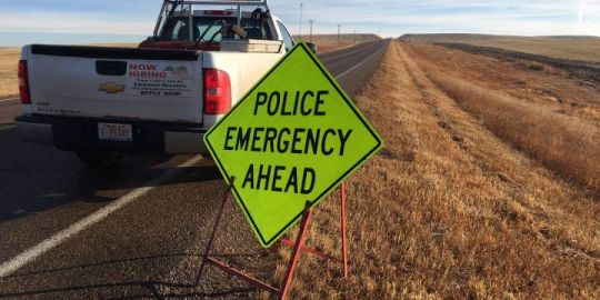 Man dead, 2 others hurt after pickup truck rolls over on highway east of Drumheller