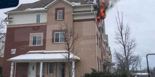 Fire breaks out at student residence in Peterborough's west end