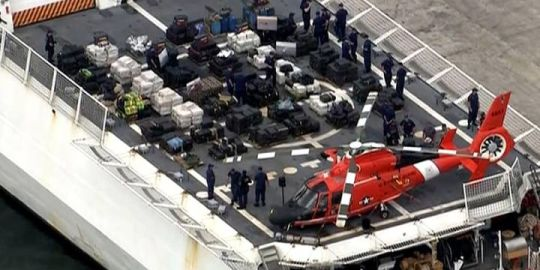 U.S. Coast Guard to offload more than half a billion dollars in cocaine after seizure