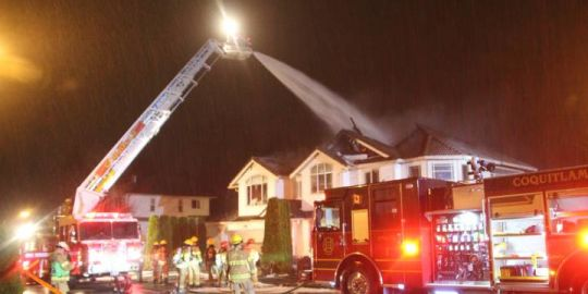 Coquitlam house fire leaves five people homeless