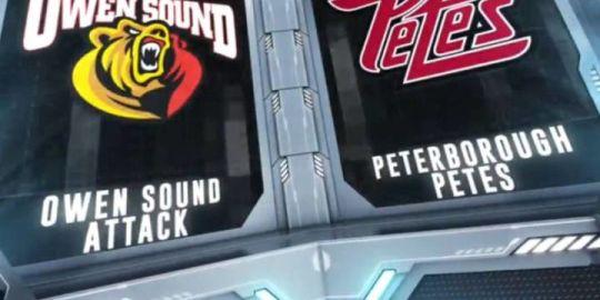 Hinz scores OT winner as Peterborough Petes beat Owen Sound Attack 4-3