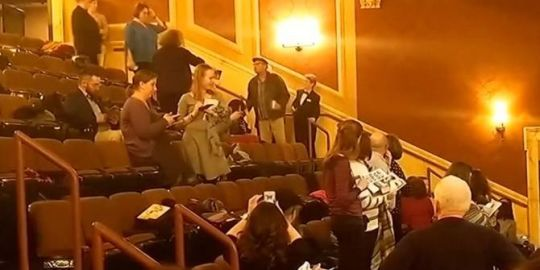 Man who sparked panic by yelling 'Heil Hitler! Heil Trump!' in theatre sorry for 'stupidity'
