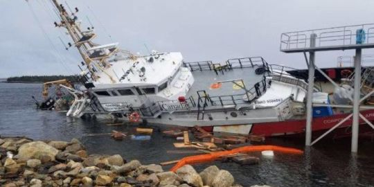 Investigation into suspected vandalism of Canadian Coast Guard vessel continues