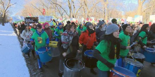 March in support of Canadian farmers held in Montreal