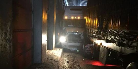 Trans-Canada closed east of Revelstoke; transports collide in tunnel