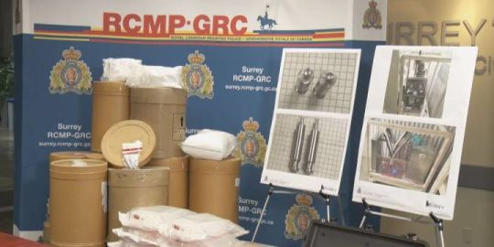 Surrey RCMP make 'significant' drug seizure, including meth and painkillers