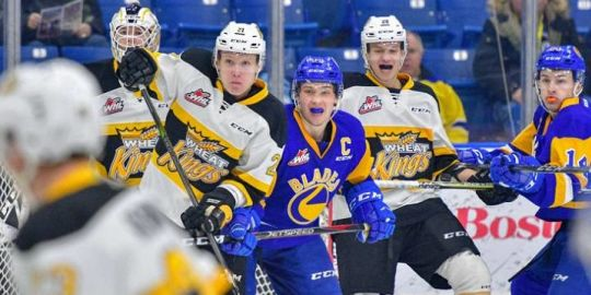 Saskatoon Blades salvage point in 6-5 overtime loss to Brandon Wheat Kings
