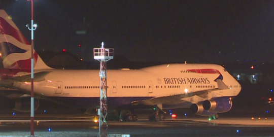 British Airways 747 diverts to Winnipeg after flight crew member suffers medical emergency
